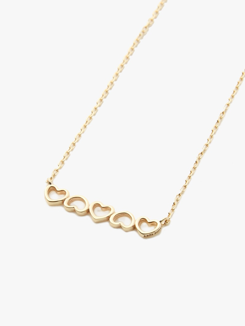 Heart Necklace 詳細画像 gold 3