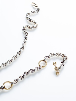 10㎜ Open-Link Wallet Chain 詳細画像 yellow gold