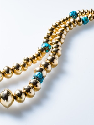 14k Gold Necklace With Turquoise 詳細画像 gold